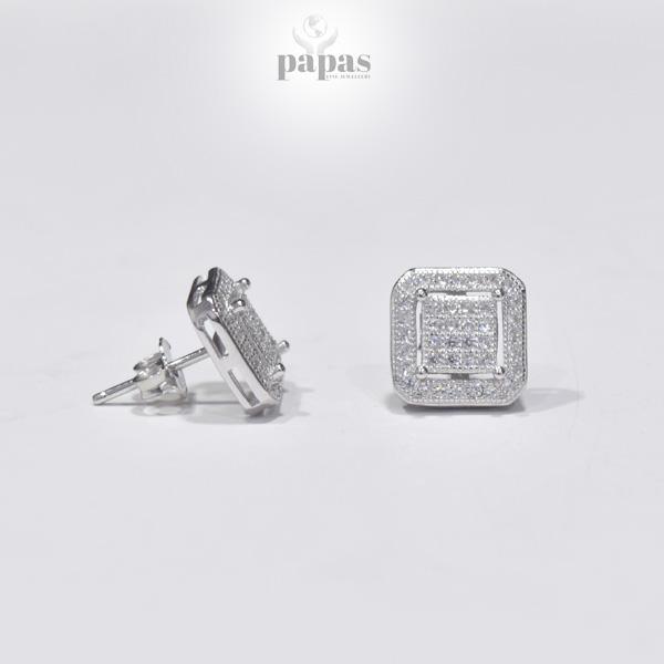 Er 006 Real Silver Stud Earrings