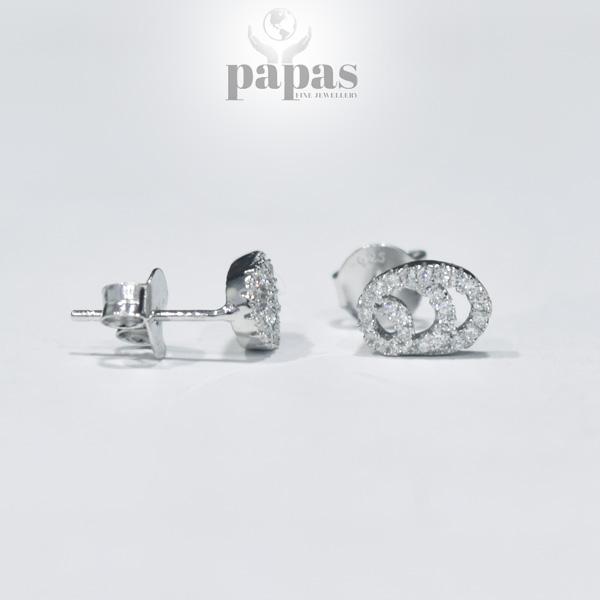 Er 007 Real Silver Stud Earrings